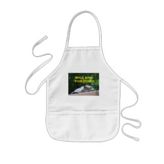 Will Sing For Food Kids' Apron