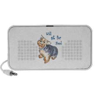 WILL SIT FOR FOOD iPod SPEAKERS