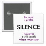 will speak when necessary button