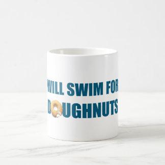 Will Swim for Doughnuts, funny gift Mugs