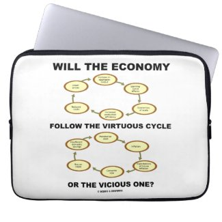 Will The Economy Follow The Virtuous Cycle Vicious Laptop Computer Sleeve