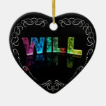 Will  - The Name Will in 3D Lights (Photograph) Christmas Tree Ornaments