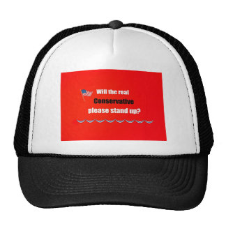 Will the real Conservative please stand up? Trucker Hat