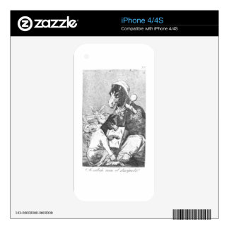 Will the student be wiser? by Francisco Goya iPhone 4 Skin