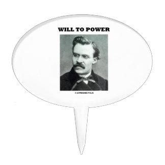 Will To Power (Friedrich Nietzsche) Cake Topper