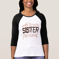 will trade sister for candy halloween t-shirt