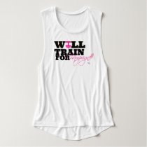 Will train for champagne Flowy Muscle Tank Top