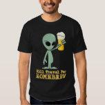 Will Travel For Homebrew (Logo on Back) - Dark T-Shirt