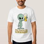 Will Travel For Homebrew (Logo on Back) - Light T-Shirt