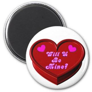 Will U Be Mine Valentine Magnet