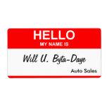 Will U. Byta-Daye Custom Shipping Labels