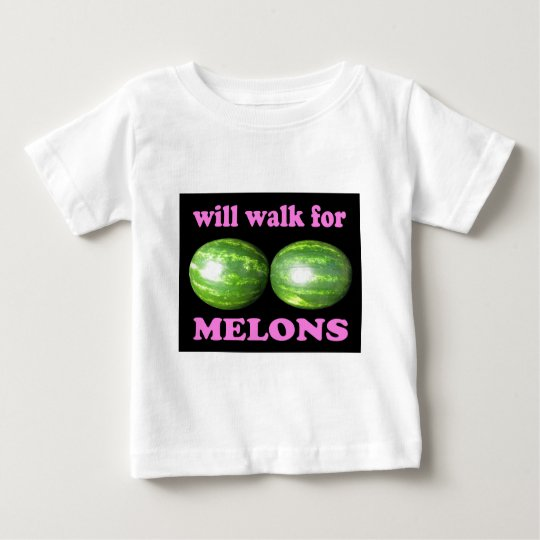 will walk for melons black with pink baby T-Shirt