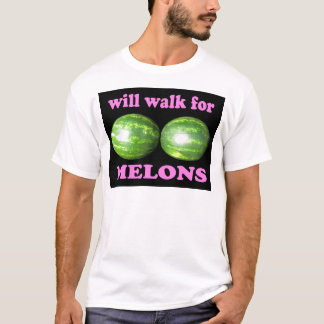 will walk for melons black with pink T-Shirt