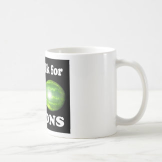 will walk for melons on black coffee mugs