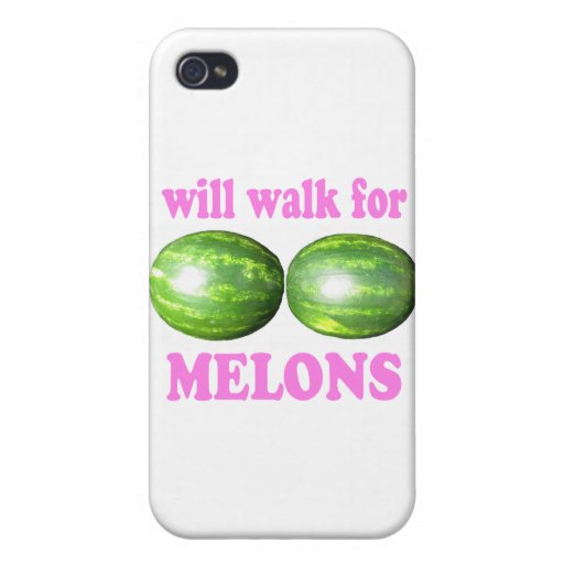 will walk for melons white with pink cases for iPhone 4
