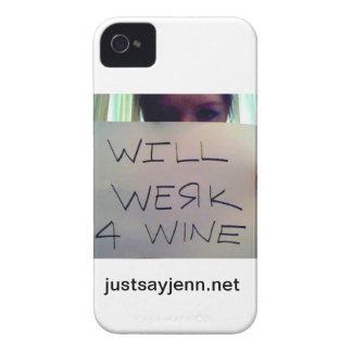 Will Werk For Wine Design Case-Mate iPhone 4 Case