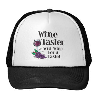 Will Wine for a Taste1 Mesh Hats