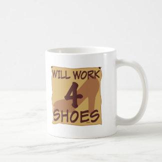 Will Work 4 Shoes Coffee Mug