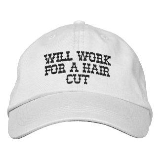 Will work for a hair cut cap