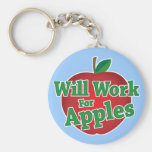 Will Work for Apples Keychains