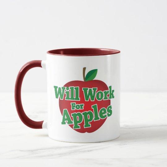 Will Work for Apples Mug