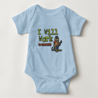 Will work for bandwidth baby bodysuit
