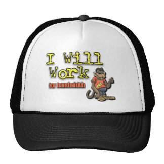 Will work for bandwidth trucker hat