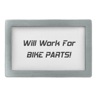 Will Work For Bike Parts Rectangular Belt Buckle