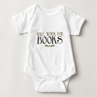 Will Work for Books Tee Shirt