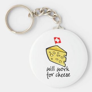 Will Work For Cheese Key Chains
