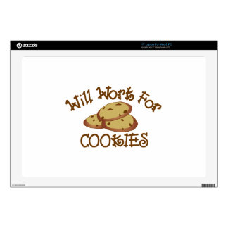 Will Work for Cookies Skins For Laptops
