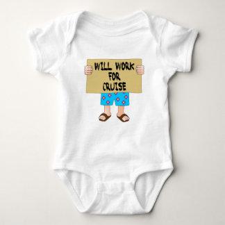 Will Work for Cruise Baby Bodysuit