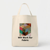 Will Work for Fabric Bag