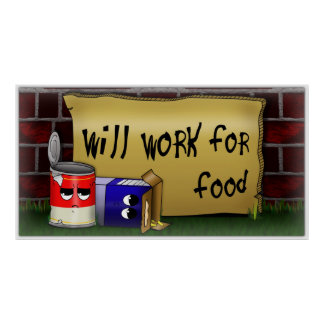 Will work for food poster