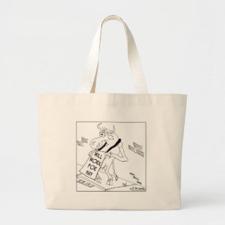 Will Work For Hay Tote Bags