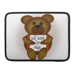 Will Work For Hugs Bear Sleeves For MacBooks