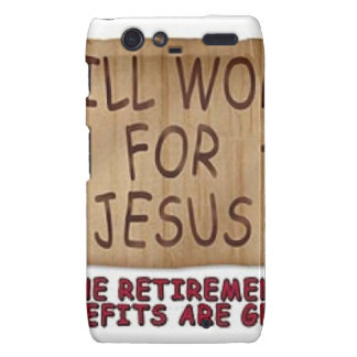 Will Work For Jesus Droid RAZR Cover