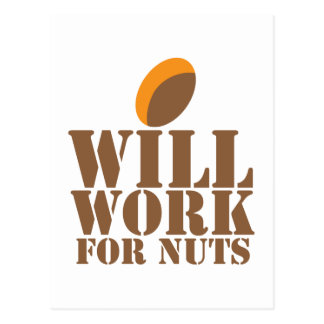 Will work for NUTS Postcard
