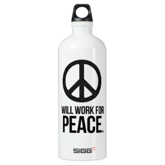 Will Work For Peace SIGG Traveler 1.0L Water Bottle