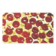Will Work for Pizza Rectangular Sticker
