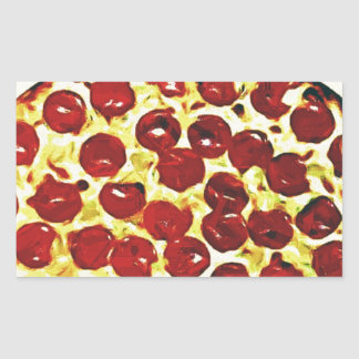 Will Work for Pizza Rectangular Sticker