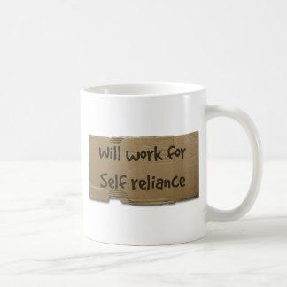 Will work for self reliance coffee mug