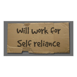 Will work for self reliance customized photo card