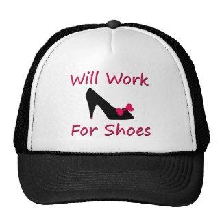 Will Work For Shoes Mesh Hat