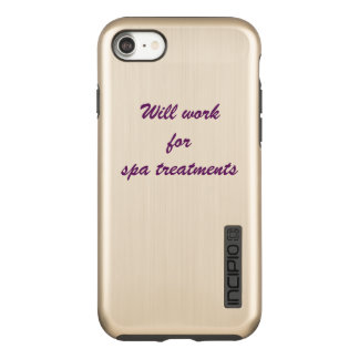 """""""will work for spa treatments"""" - iphone case"""