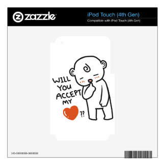 Will You Accept My Love Collection iPod Touch 4G Decal