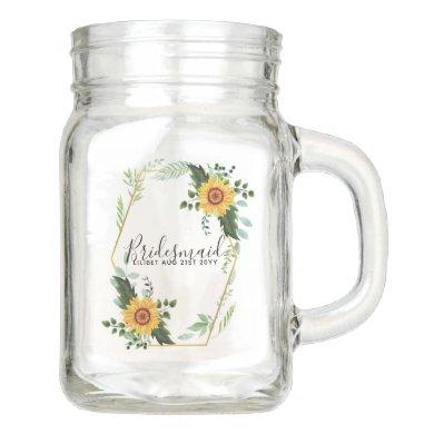 Will You Be Bridesmaid Maid Honor Thank You Mother Mason Jar