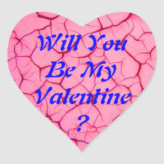 Will You Be Mine Heart Stickers