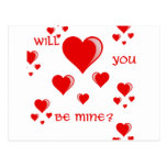Will You Be Mine Postcard