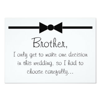 Will you be my best man 5x7 paper invitation card